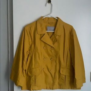 Golden yellow cotton blend Spring jacket